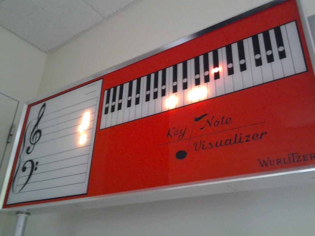 The Wurlitzer Key Note Visualizer