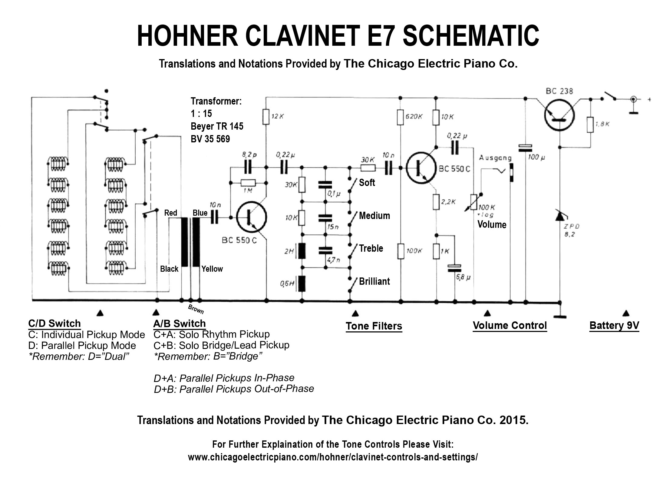 clavinet e7 schematic  wiring diagram