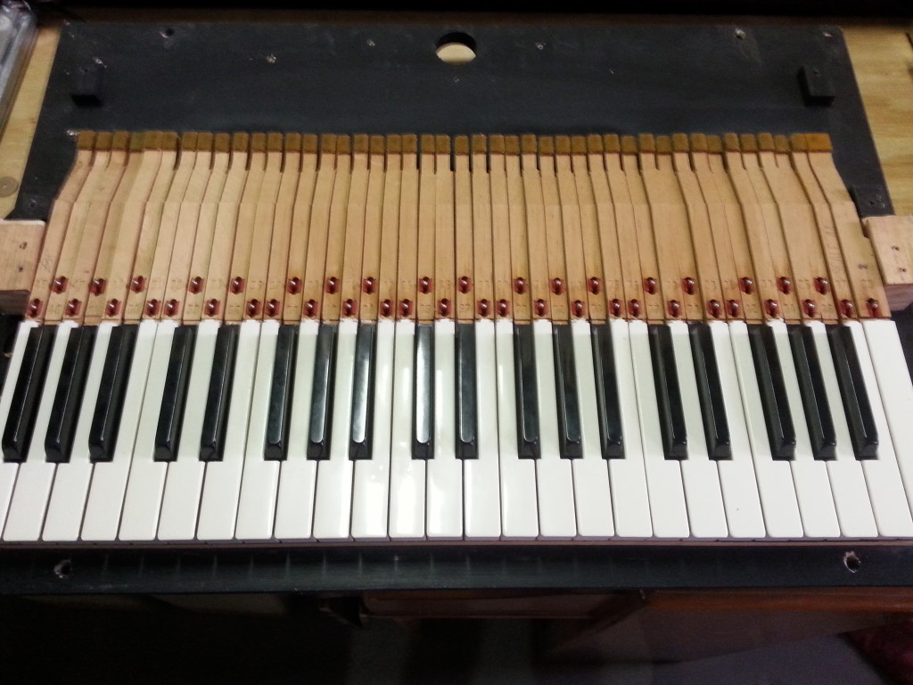 Wurlitzer 106 Key Bed with Keys Only