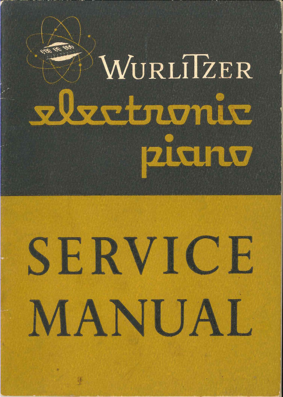 Wurlitzer 110_Service manual Cover